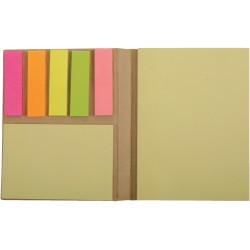 , Mini-book with sticky flags and two sticky notepads, Busrel