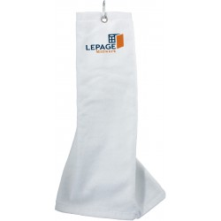 , 100% cotton velour finish golf towel with carabiner, Busrel