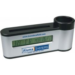 , Pen Holder with Digital Calendar/Clock & Thermometer, Busrel