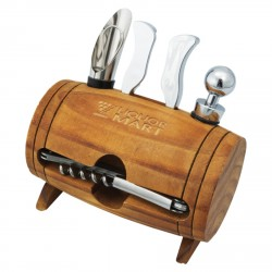 , Wine barrel shaped accessory kit, Busrel
