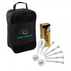 , GOLF PACKAGE (4783)\nBalls, tees, markers, divot repairs tools and a shoe bag, Busrel