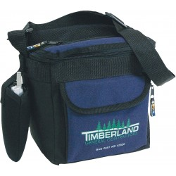 9-pack cooler bag with exterior cell phone holder