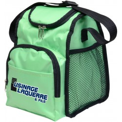 Cool lunch bag with two compartments