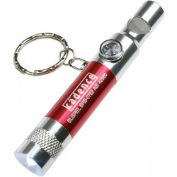 , Keychain with whistle, LED light and compass, Busrel