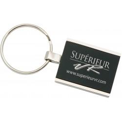 Rectangular colored metal key tag