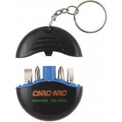 , Key holder screwdriver set 4 bits, Busrel