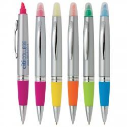 """MONTEPULCIANO"" Fluorescent highlighter and ballpoint pen"