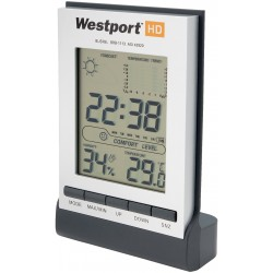 , LCD clock with weather station, Busrel