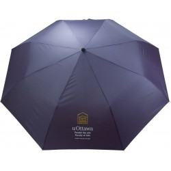 """, Automatic deluxe mini umbrella with curved wooden handle - 43\\"""", Busrel"""