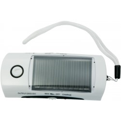 Solar flashlight / radio / cellphone charger